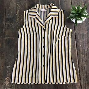 VINTAGE striped sleeveless top - EUC